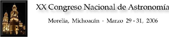 XX Congreso Nacional de Astronomía